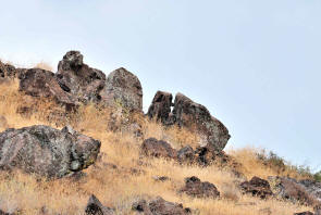Split Wedge Rock Shasta Valley