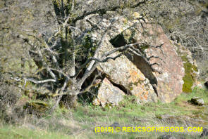 Split Wedge Rock - Sutter Buttes